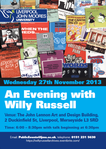 Willy Russell Event Poster