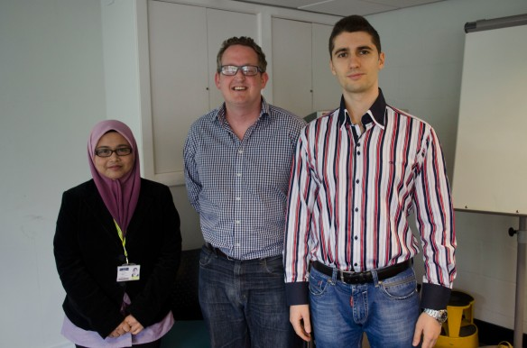Left to right: Hafizan Mat Som, Chris Mackintosh and Ivan Subotic