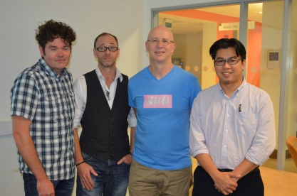 Left to right: David Tyrer, Mark Feltham, Gerry Smyth, Mohd Hafizi Said