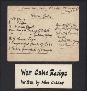 20140801 [War cake recipe]