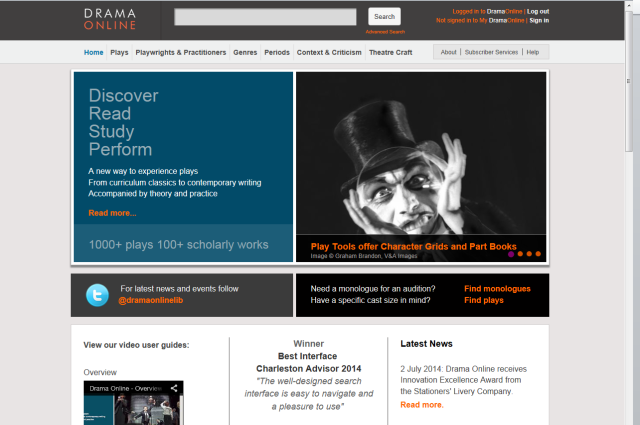 Drama Online Home Page