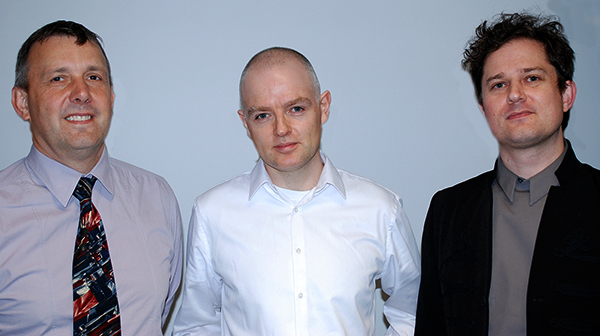 Left to right: Keith George, Joe Moran, Harry Sumnall