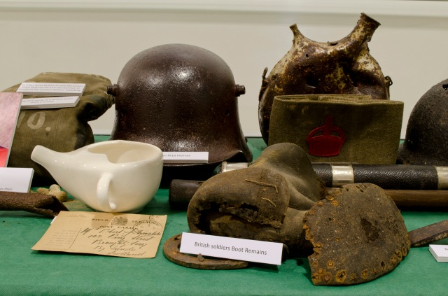 Material in the World War One in 100 Objects Exhibition at Aldham Robarts Library