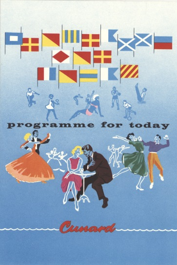 Programme for Today, R.M.S Queen Elizabeth, 19 September 1963