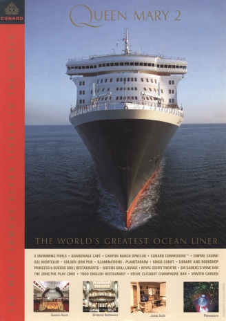 Promotional flyer for Queen Mary 2, launched in 2004