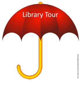 Library tour umbrella2