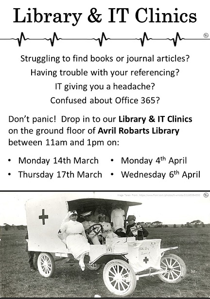 Library and IT Clinics BandW Poster 01 (jpeg)